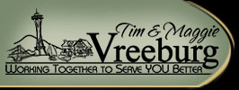 Tim and Maggie Vreeburg - Working Together to Serve You Better